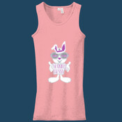 Summer Bunny - Juniors 2x1 Rib Tank